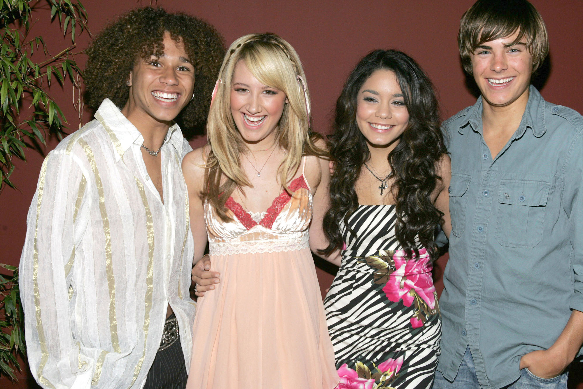 Corbin Bleu, Ashley Tisdale, Vanessa Hudgens and Zac Efron on October 09, 2005.