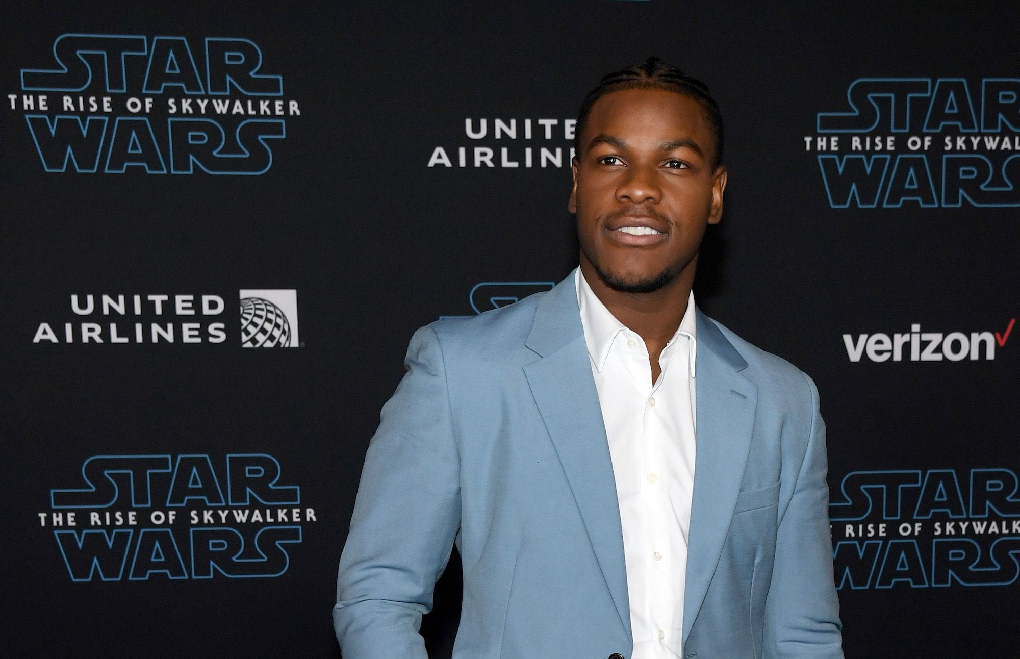 John Boyega at the premiere of Disney's 'Star Wars: The Rise of Skywalker' on Dec. 16, 2019.