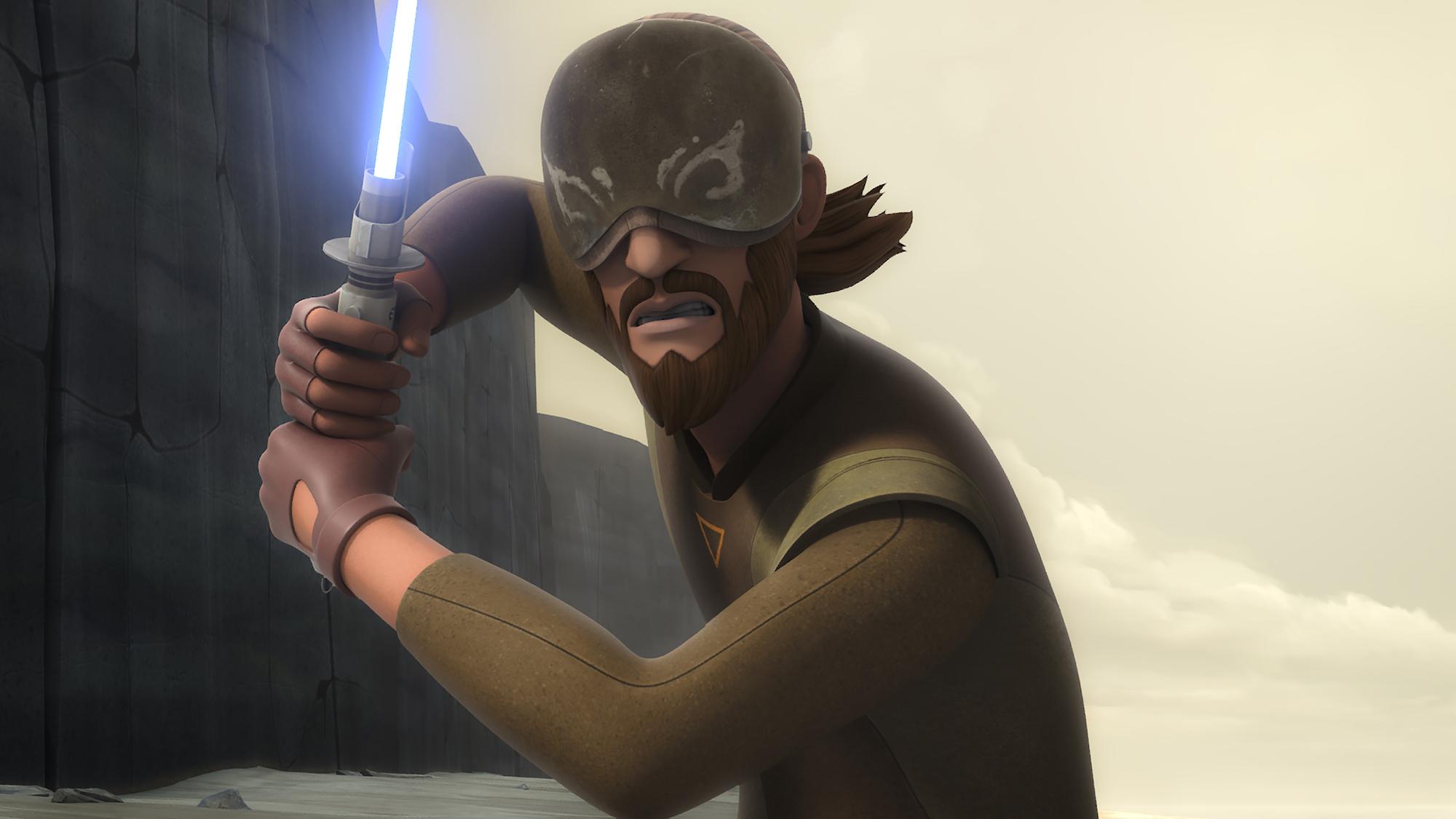 """Kanan Jarrus in 'STAR WARS REBELS' Episode """"Heroes of Mandalore"""" voiced by Freddie Prinze Jr."""