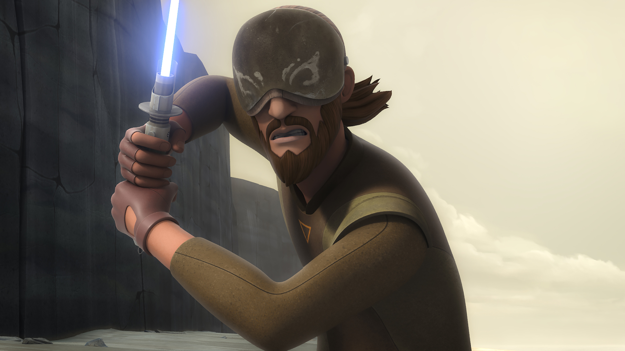 "Kanan Jarrus in 'STAR WARS REBELS' Episode ""Heroes of Mandalore"" voiced by Freddie Prinze Jr."