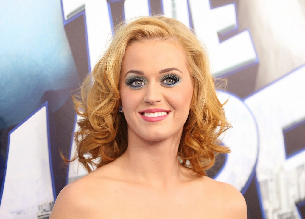Katy Perry with blue eyeshadow