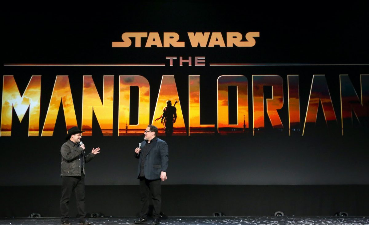 Dave Filoni and John Favreau from