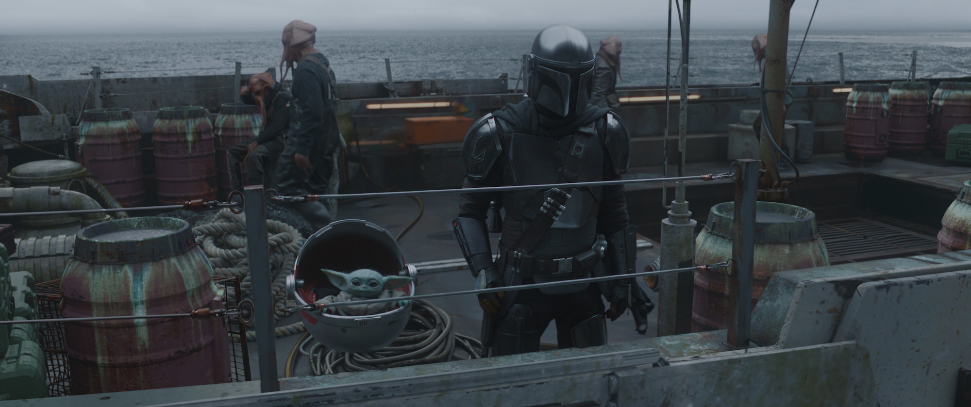 The Child and Mando in Episode 3, Season 2 of 'The Mandalorian'