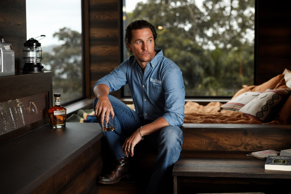 Matthew McConaughey launched an off-grid cabin he co-designed with Wild Turkey's charity initiative, With Thanks
