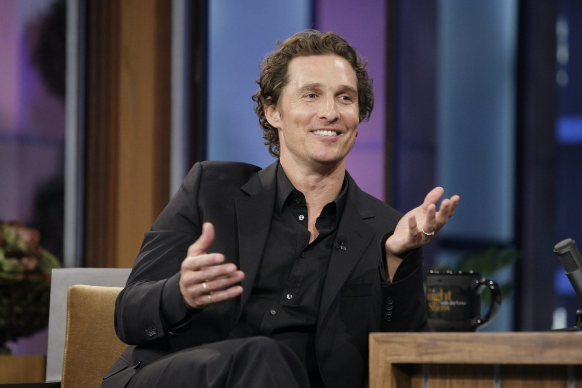 Matthew McConaughey during an interview on The Tonight Show With Jay Leno 2010