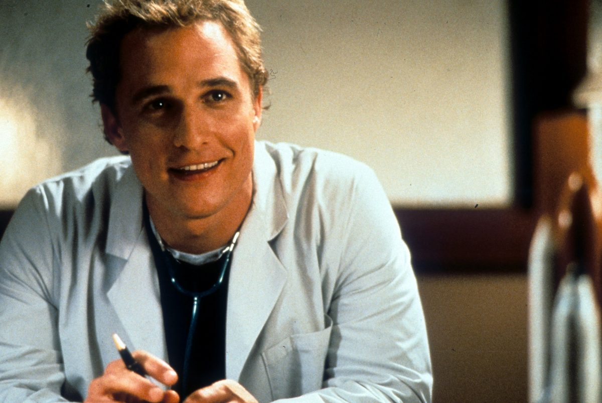 Matthew McConaughey in a scene from the film 'The Wedding Planner'