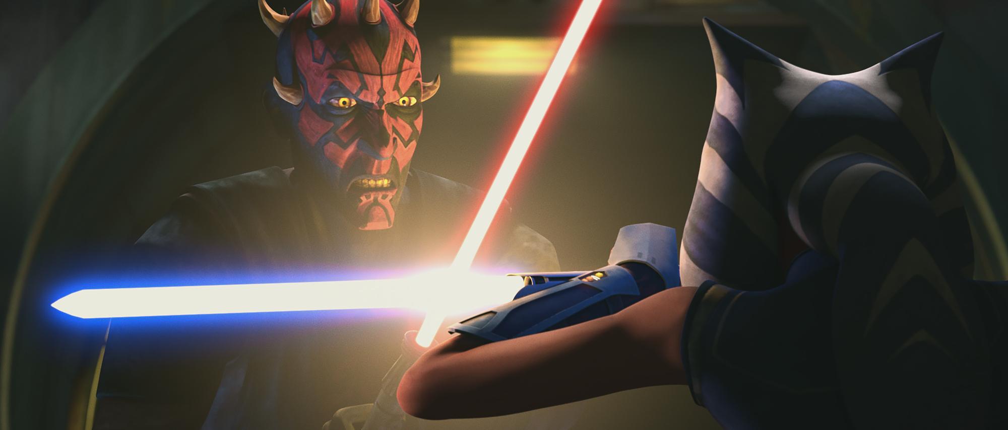 Maul faces off against Ahsoka Tano in 'Star Wars: The Clone Wars' Season 7