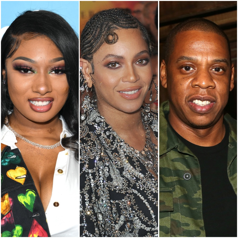 Megan Thee Stallion, Beyoncé, and Jay-Z