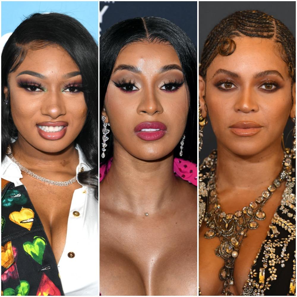 Megan Thee Stallion, Cardi B, and Beyoncé