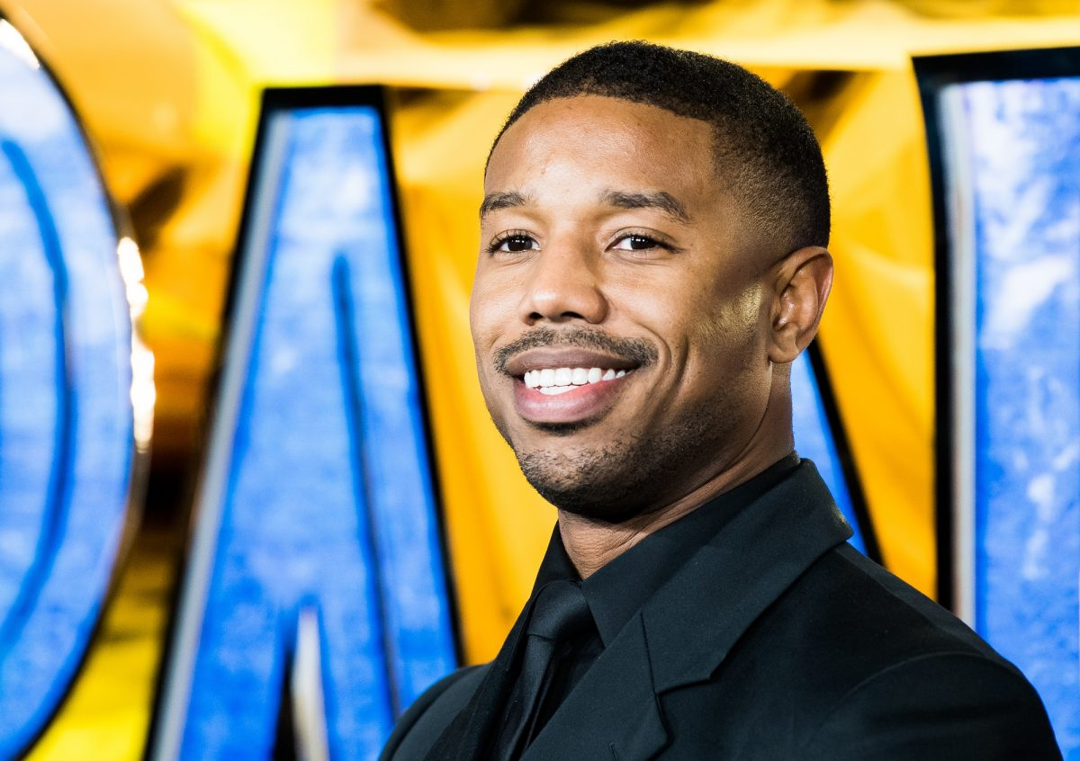 Michael B. Jordan attends the European Premiere of 'Black Panther' on February 8, 2018 in London, England.