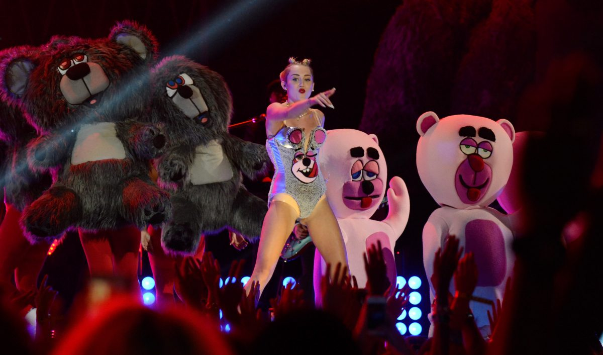 Miley Cyrus performs during the 2013 MTV Video Music Awards on August 25, 2013 in New York City.