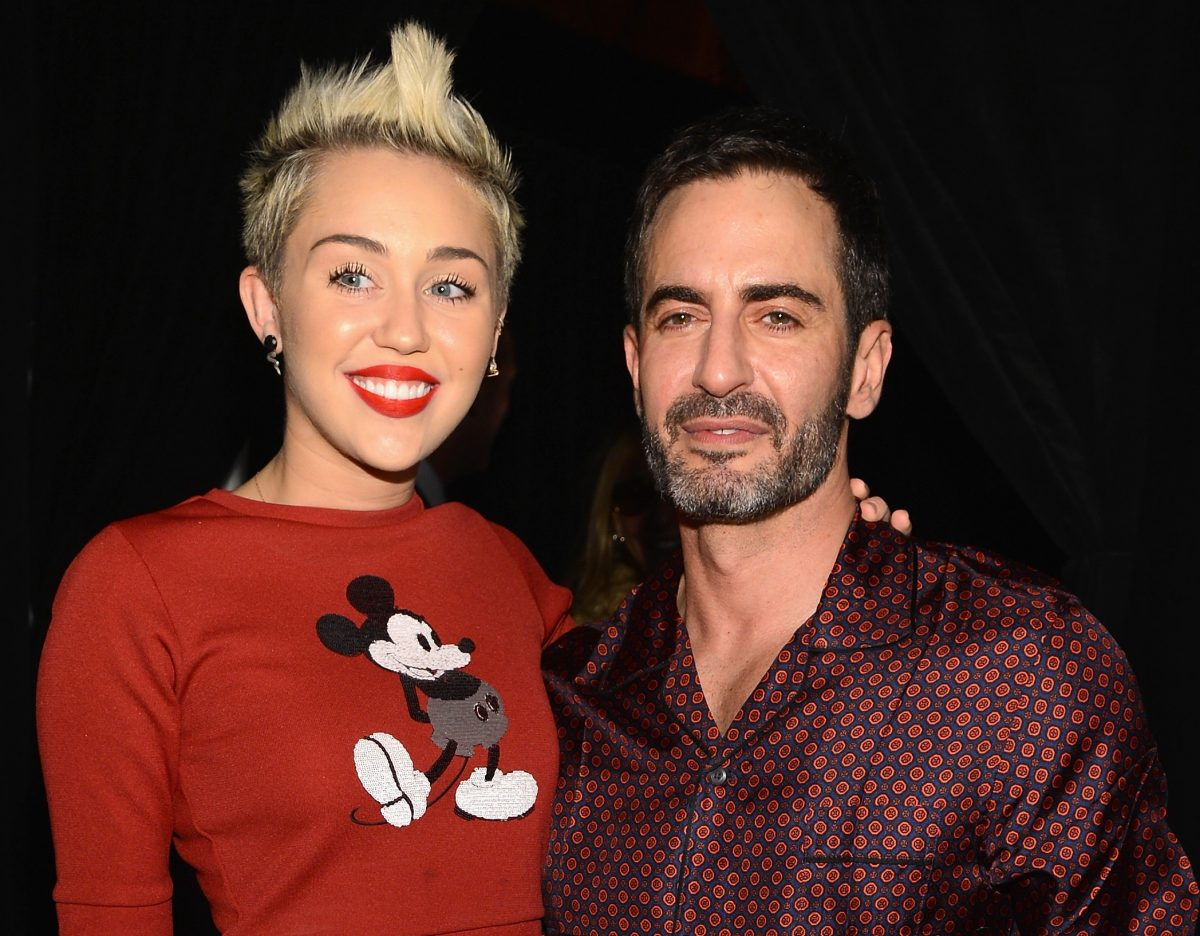 Miley Cyrus (L) and Marc Jacobs