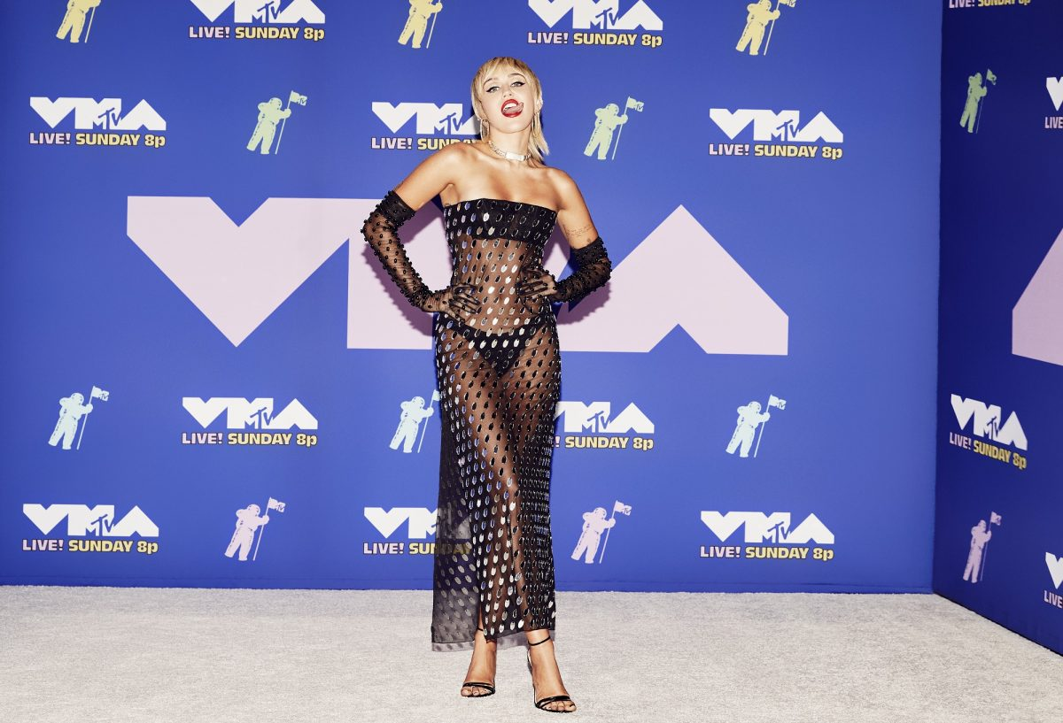 Miley Cyrus attends the 2020 MTV Video Music Awards, broadcast on Sunday, August 30, 2020, in New York City.