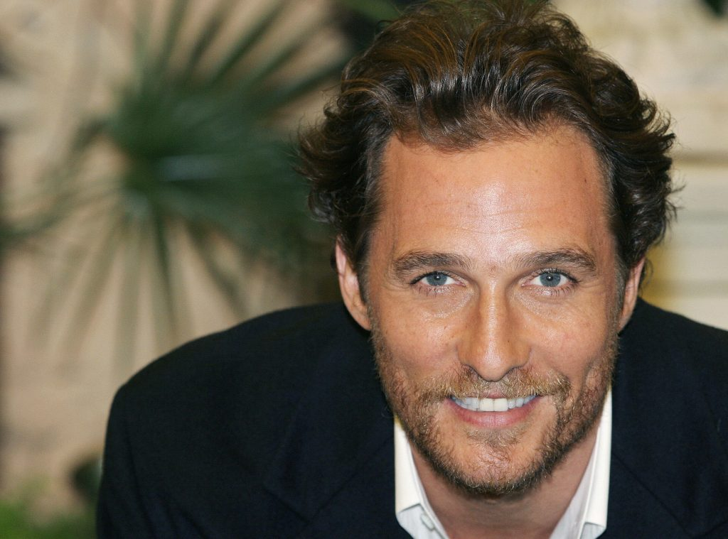 Matthew McConaughey in a suit