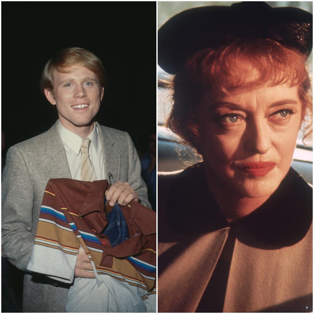Director Ron Howard in 1980 and actor Bette Davis in 1970