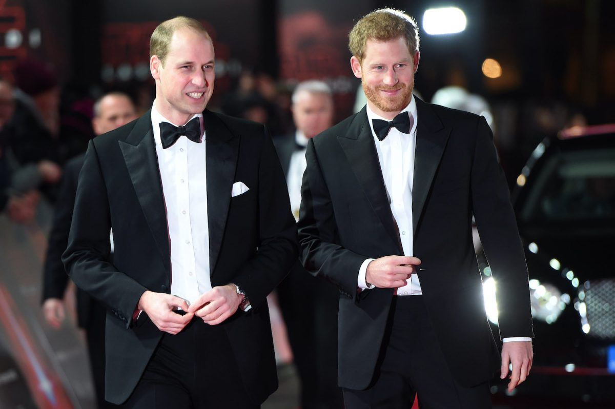 Prince William and Prince Harry attend the European Premiere of 'Star Wars: The Last Jedi' at Royal Albert Hall on December 12, 2017