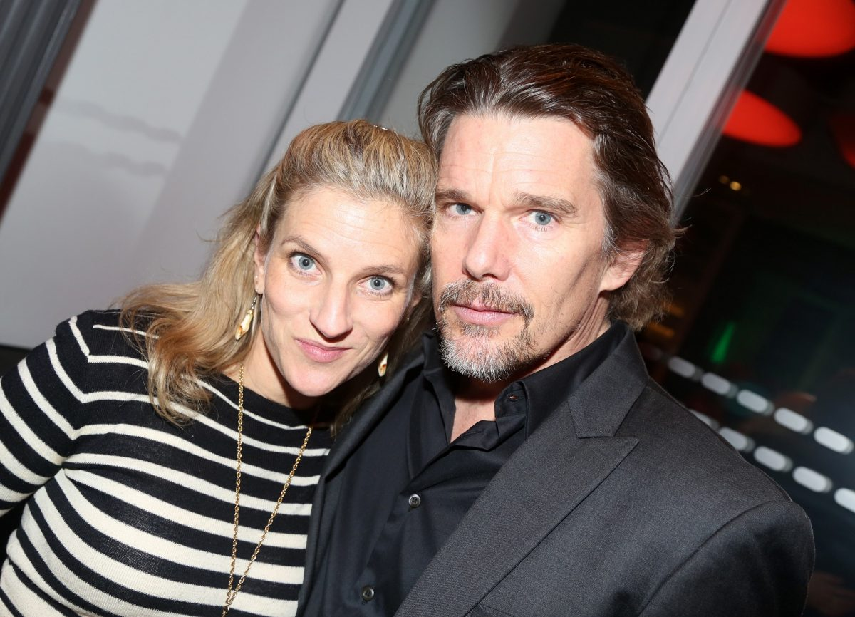 Ryan Hawke and Ethan Hawke pose at the opening night party for the new musical 'Bob & Carol & Ted & Alice' on February 4, 2020, in New York City.