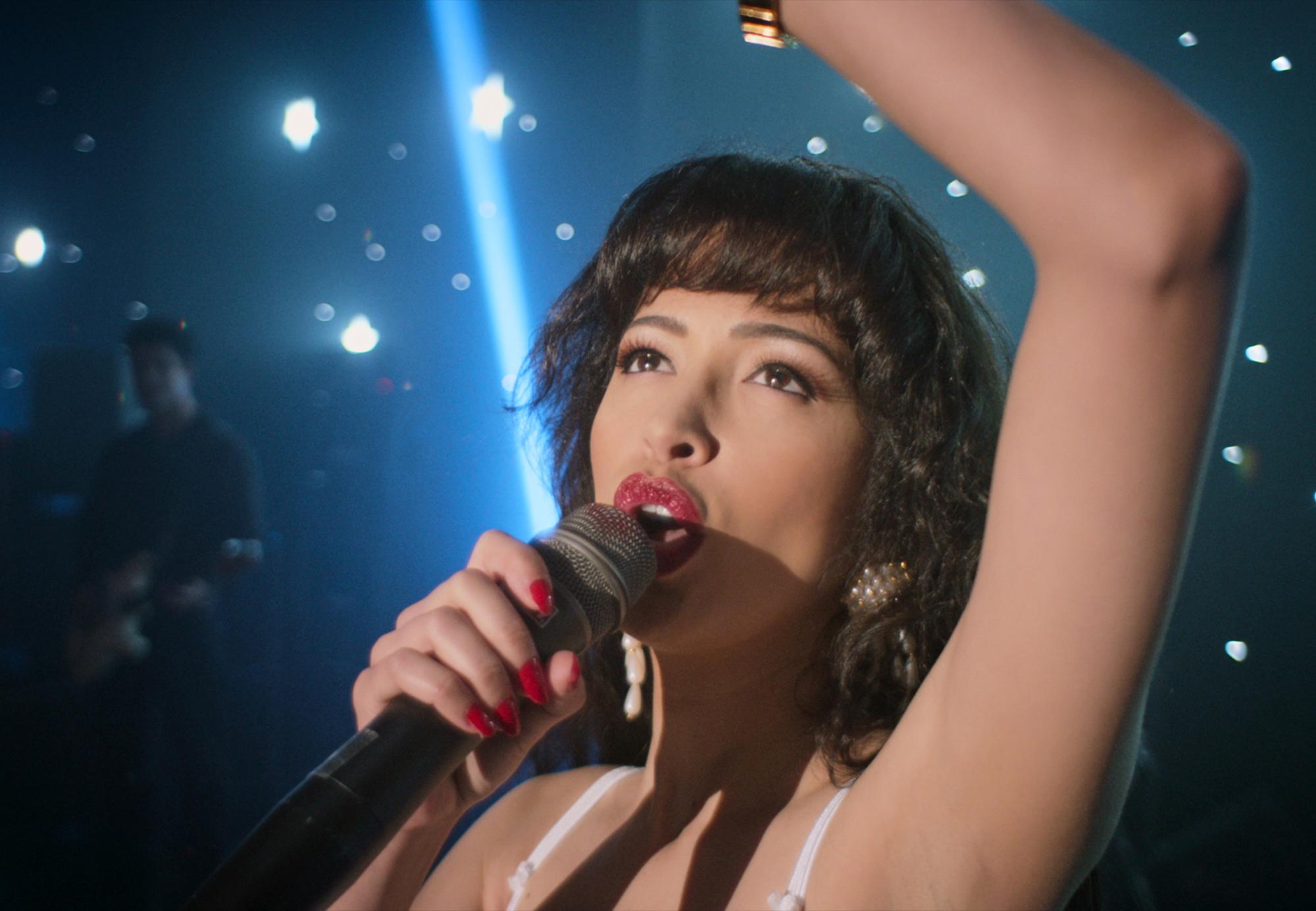 Christian Serratos as Selena Quintanilla in 'SELENA THE SERIES' on Netflix Dec. 4