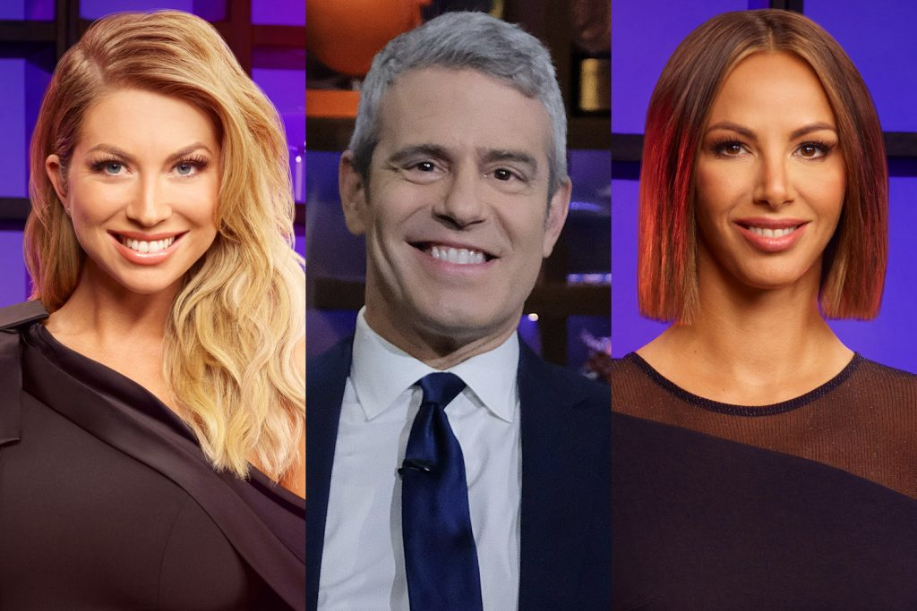 Stassi Schroeder, Andy Cohen, and Kristen Doute
