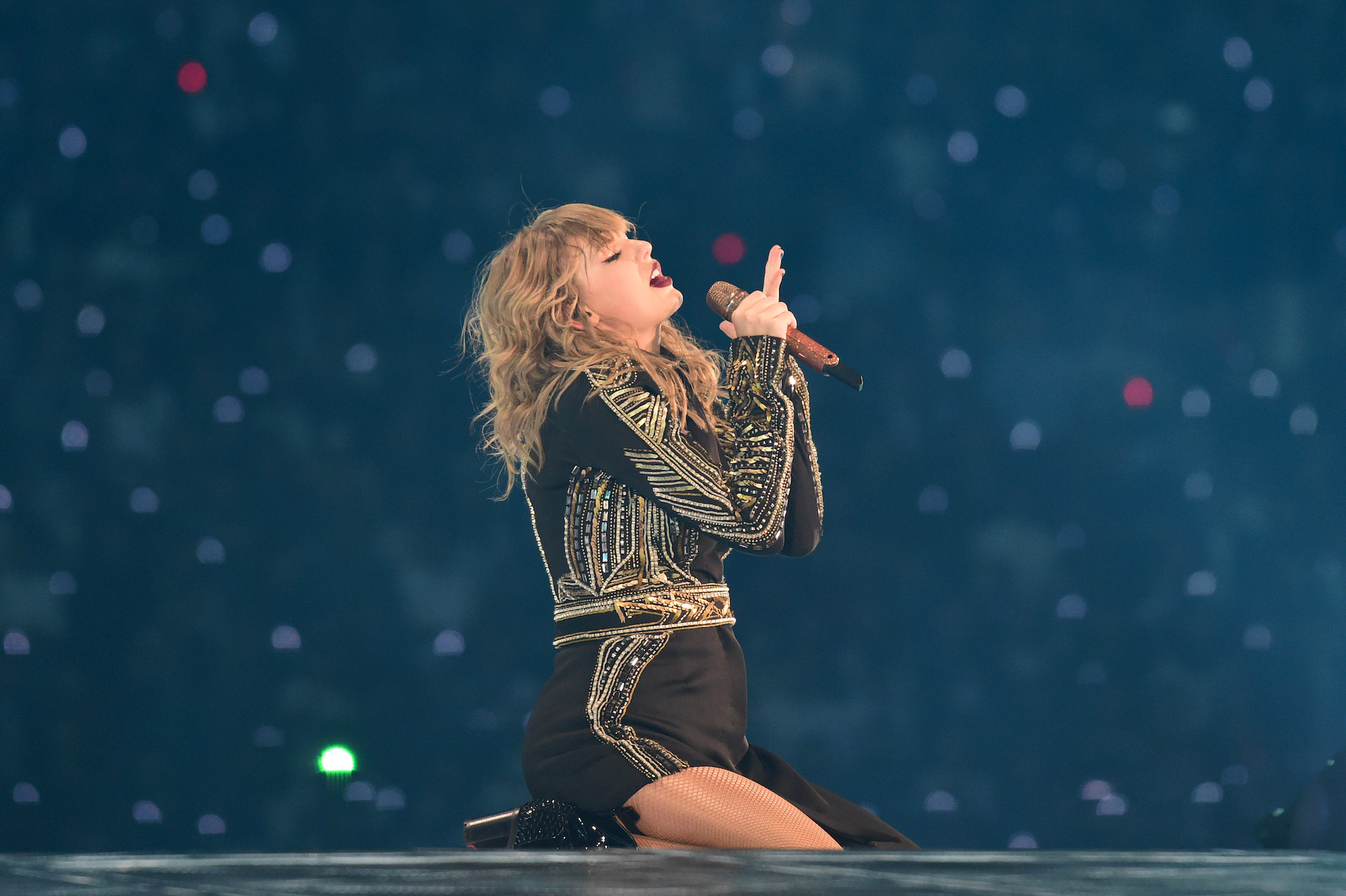 Taylor Swift performs during the 'reputation' Stadium Tour in Japan on Nov. 21, 2018