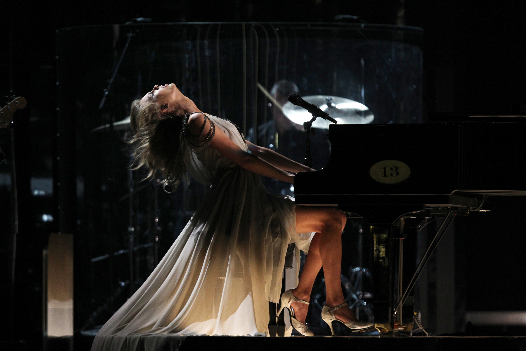 """Taylor Swift performing """"All Too Well"""" at THE 56TH ANNUAL GRAMMY AWARDS on Jan. 26 2014."""