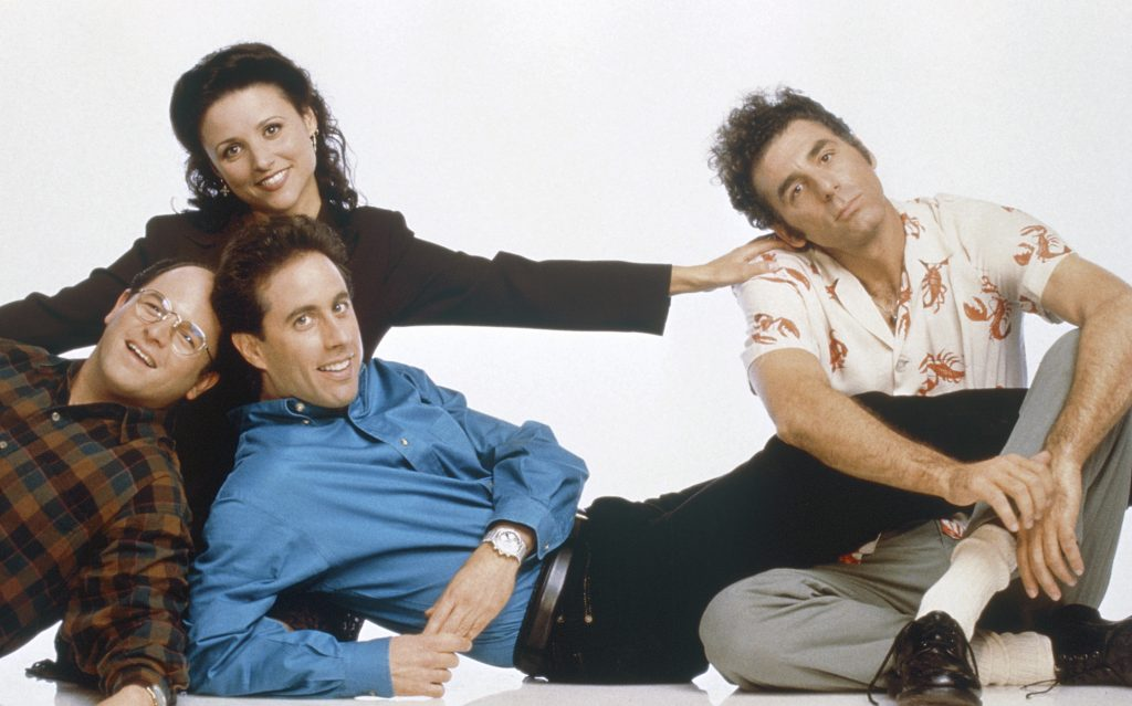 The cast of 'Seinfeld' in promotional photos for the series