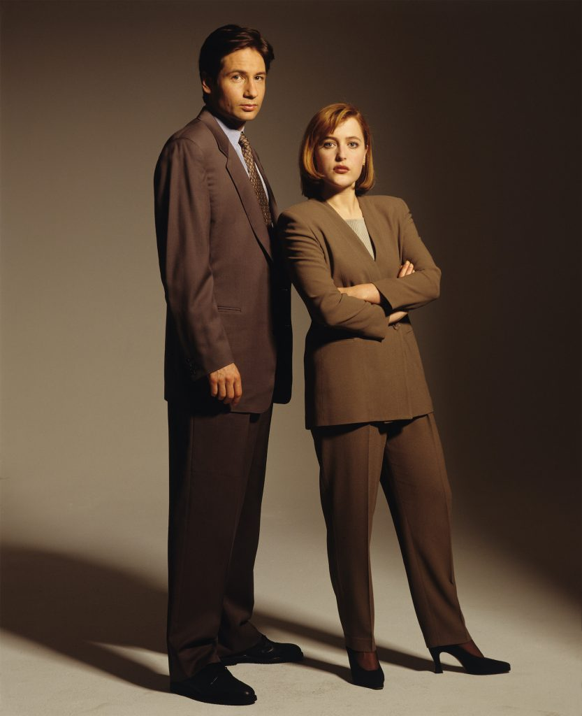 Gillian Anderson and David Duchovny Portrait Session The X Files