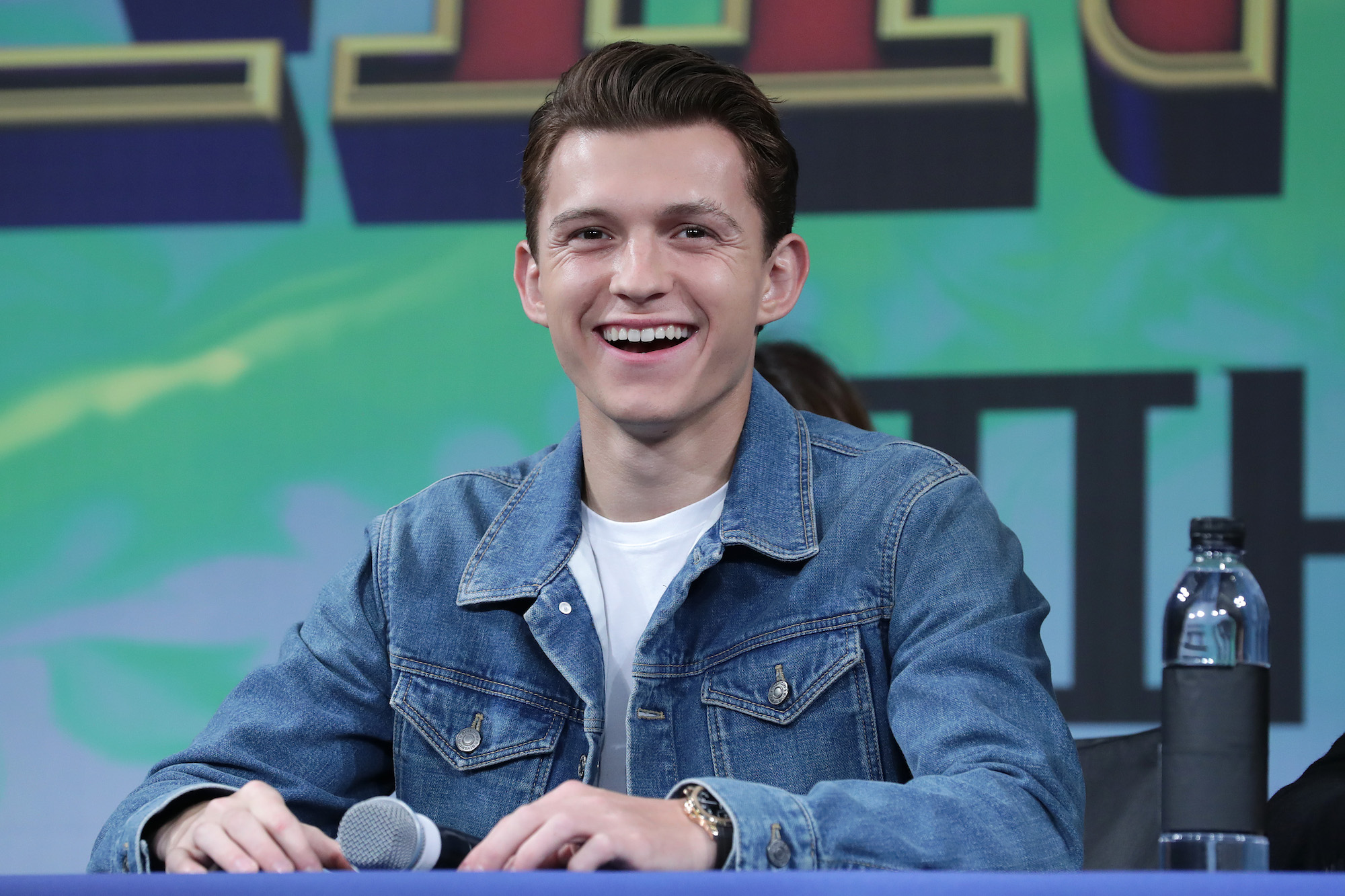 Tom Holland at the press conference for 'Spider-Man: Far From Home' Seoul premiere on July 01, 2019.
