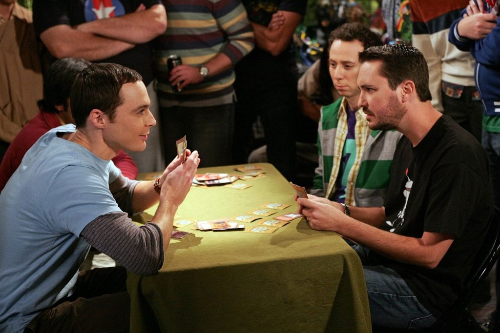 Wil Wheaton, Jim Parsons, and Kevin Sussman in 'The Big Bang Theory'