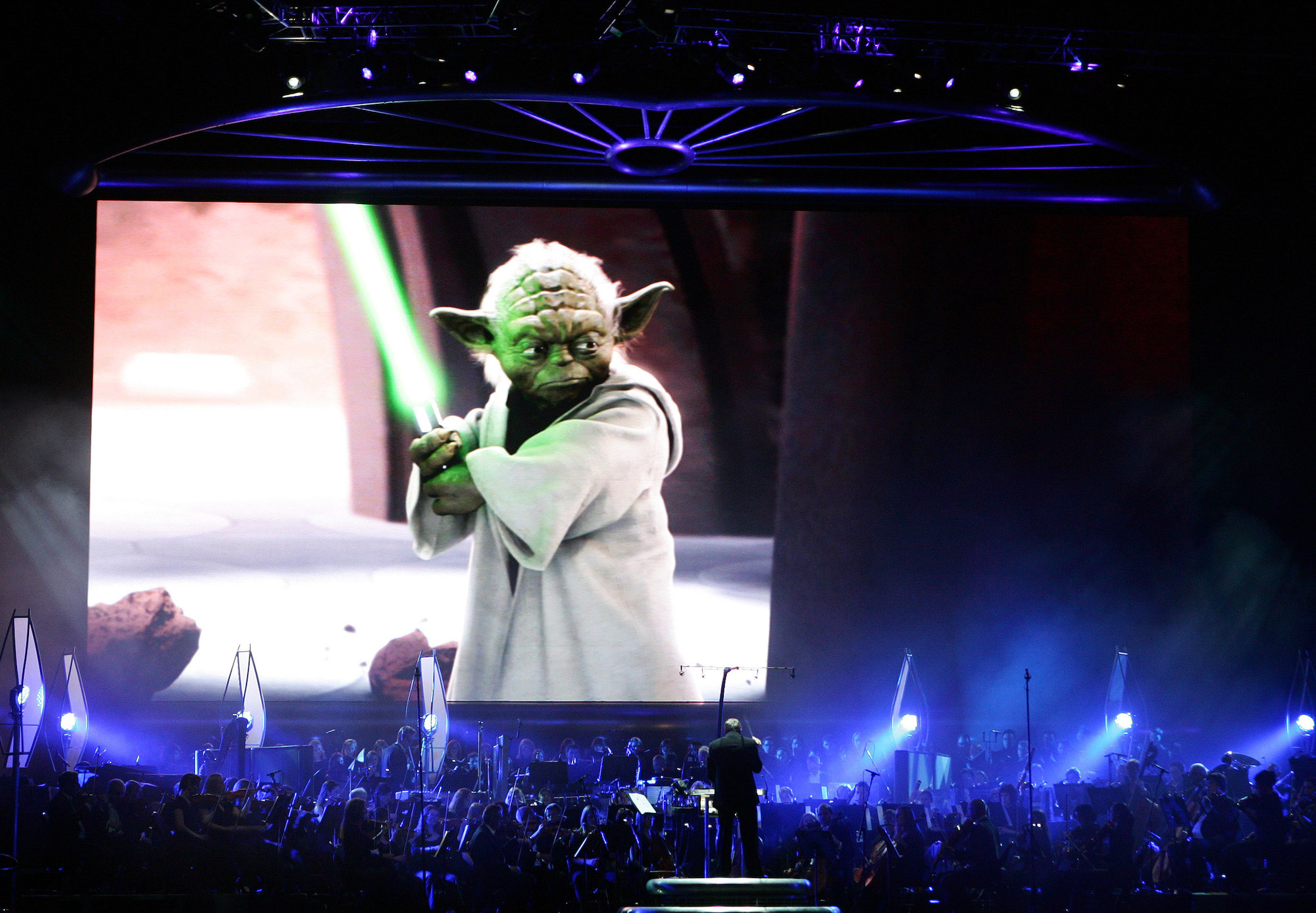 The Royal Philharmonic Orchestra conducted by John Williams performs at Star Wars in Concert on Dec. 9, 2009, in Kansas City, MO