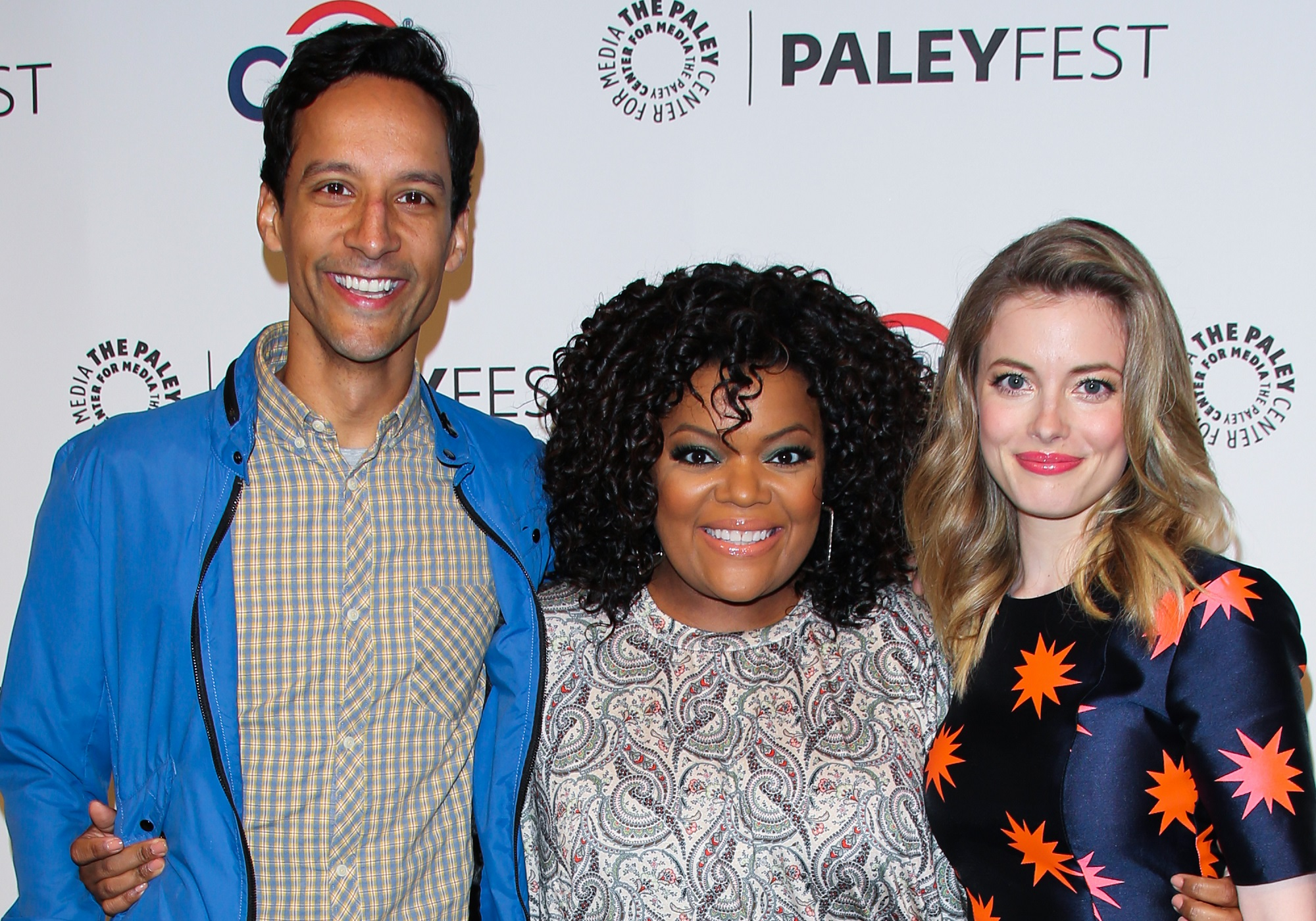Danny Pudi, Yvette Nicole Brown, and Gillian Jacobs of Community