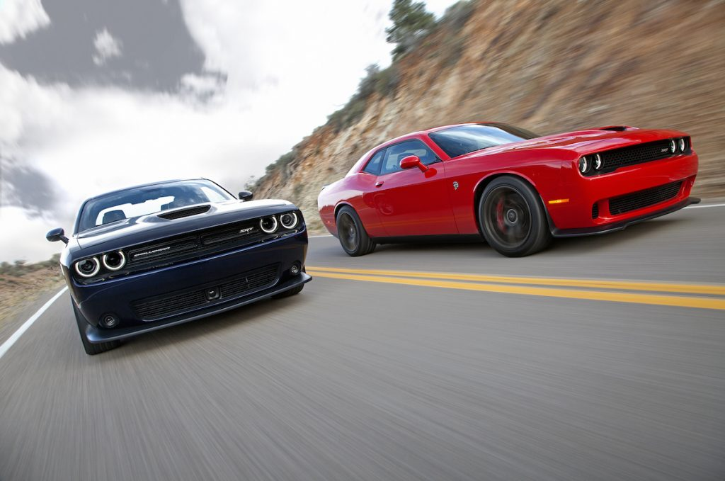 'Cobra Kai' uses many cars in its episodes, including Dodge Challengers similar to these pictured