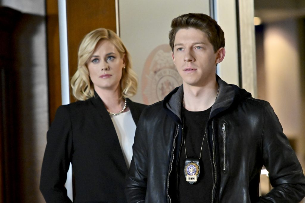 Abigail Hawk and Will Hochman on the set of Blue Bloods |  John Paul Filo/CBS via Getty Images
