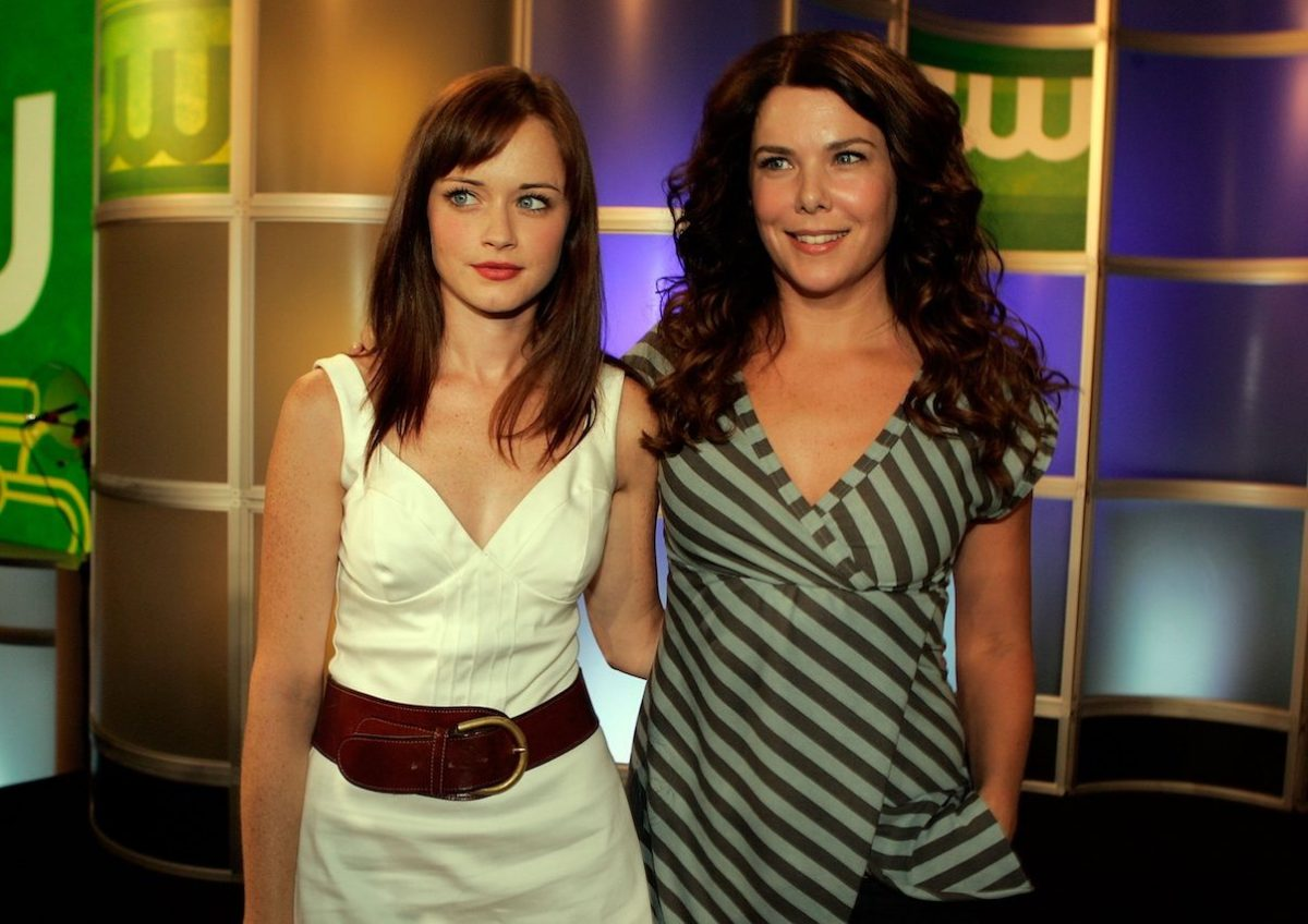 Alexis Bledel and Lauren Graham at the 2006 Summer Television Critics Association Press Tour for the CW