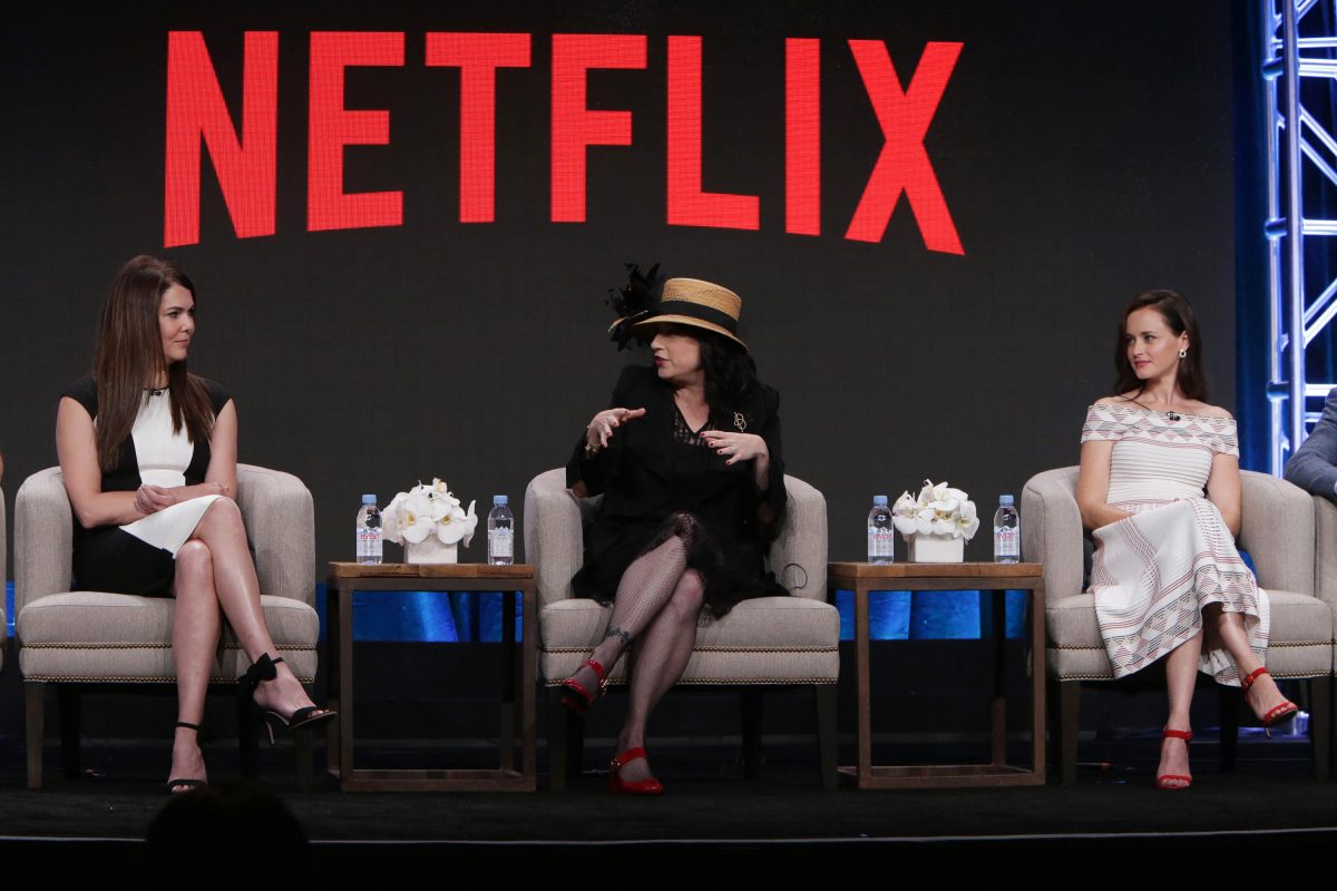Lauren Graham, Amy Shermna-Palladino and Alexis Bledel at Netflix 2016 Summer TCA at the Beverly Hilton Hotel