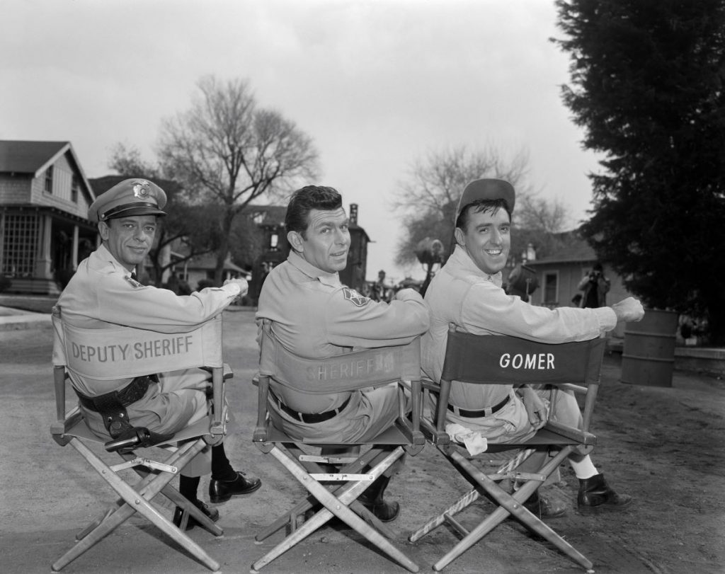 Andy Griffith, Jim Nabors, and Don Knotts