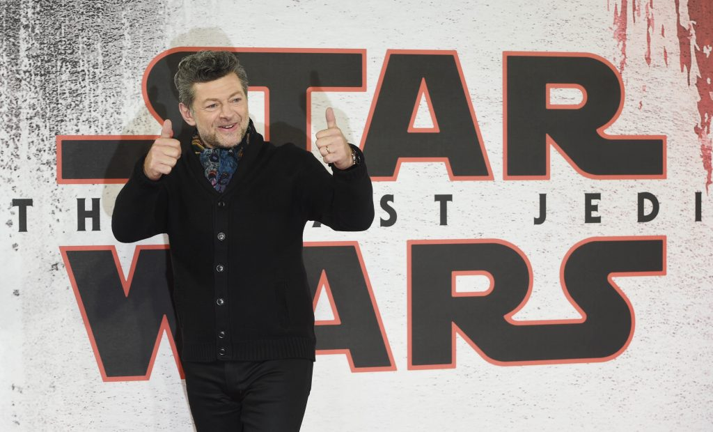 Andy Serkis poses during the 'Star Wars: The Last Jedi' photocall