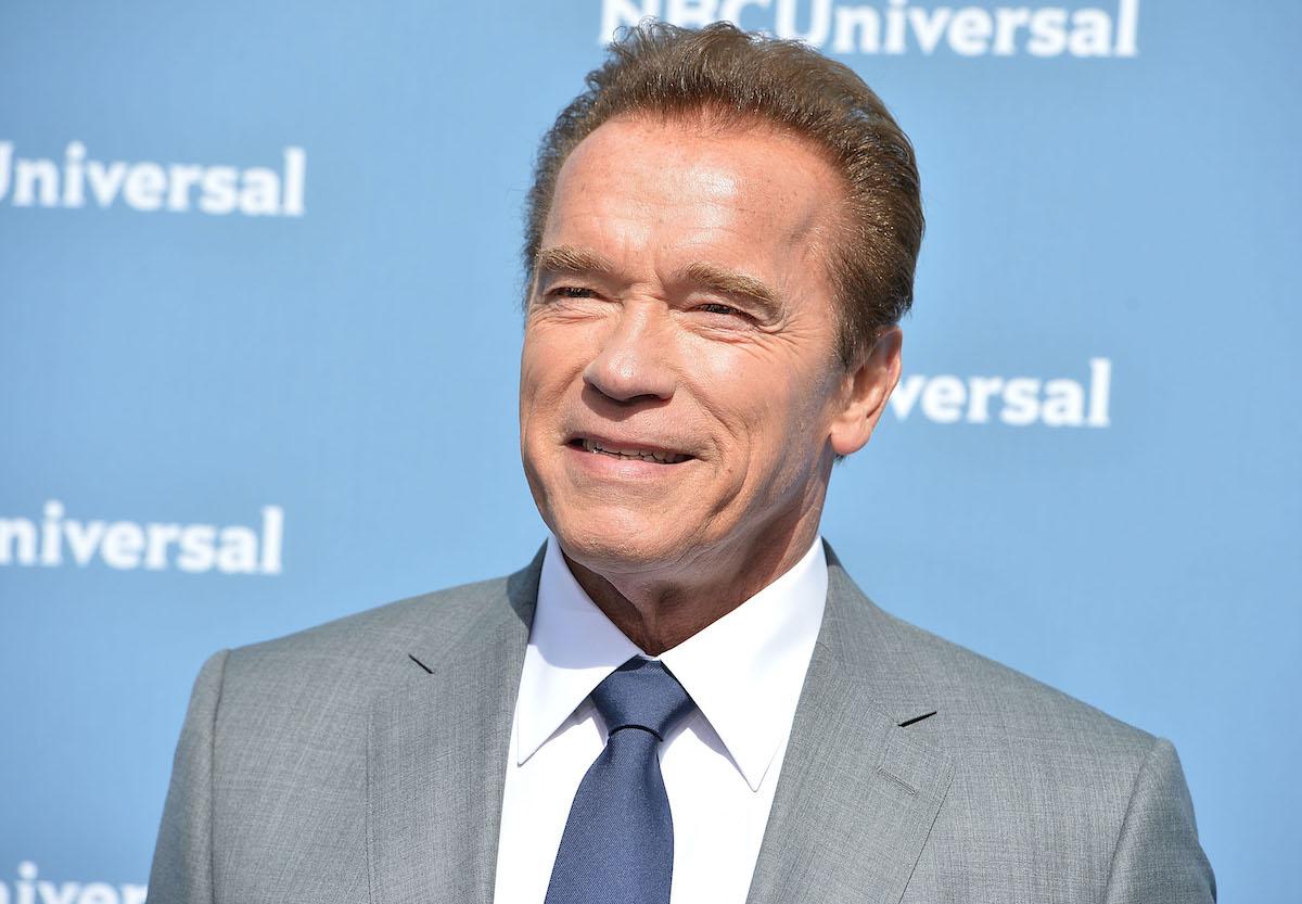 Arnold Schwarzenegger at the NBCUniversal 2016 upfront presentation