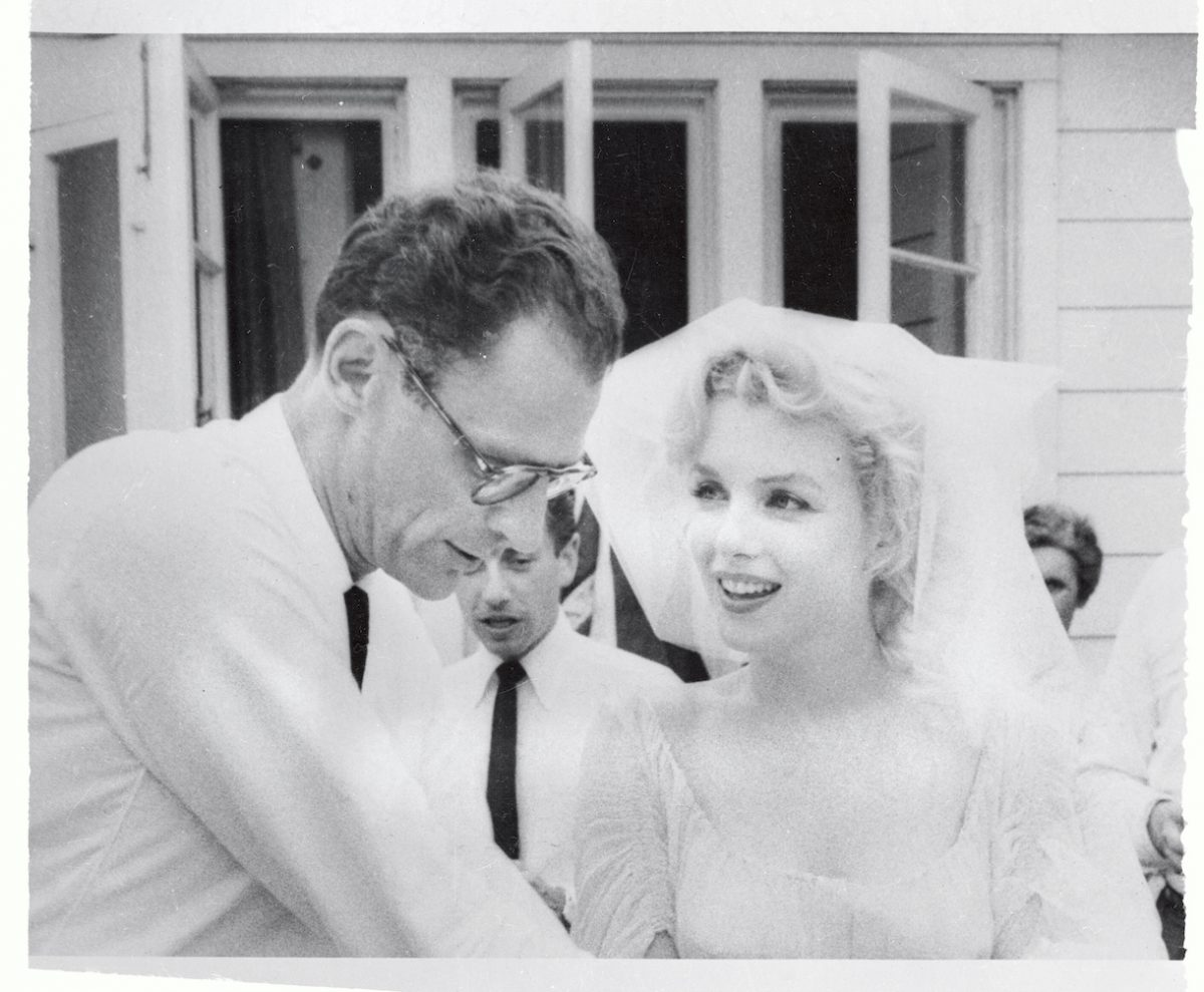 Marilyn Monroe and Arthur Miller After Marriage Ceremony