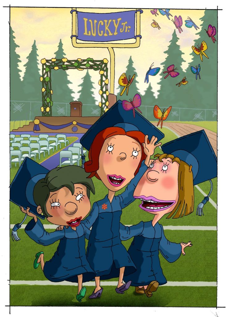 As Told By Ginger characters at a graduation