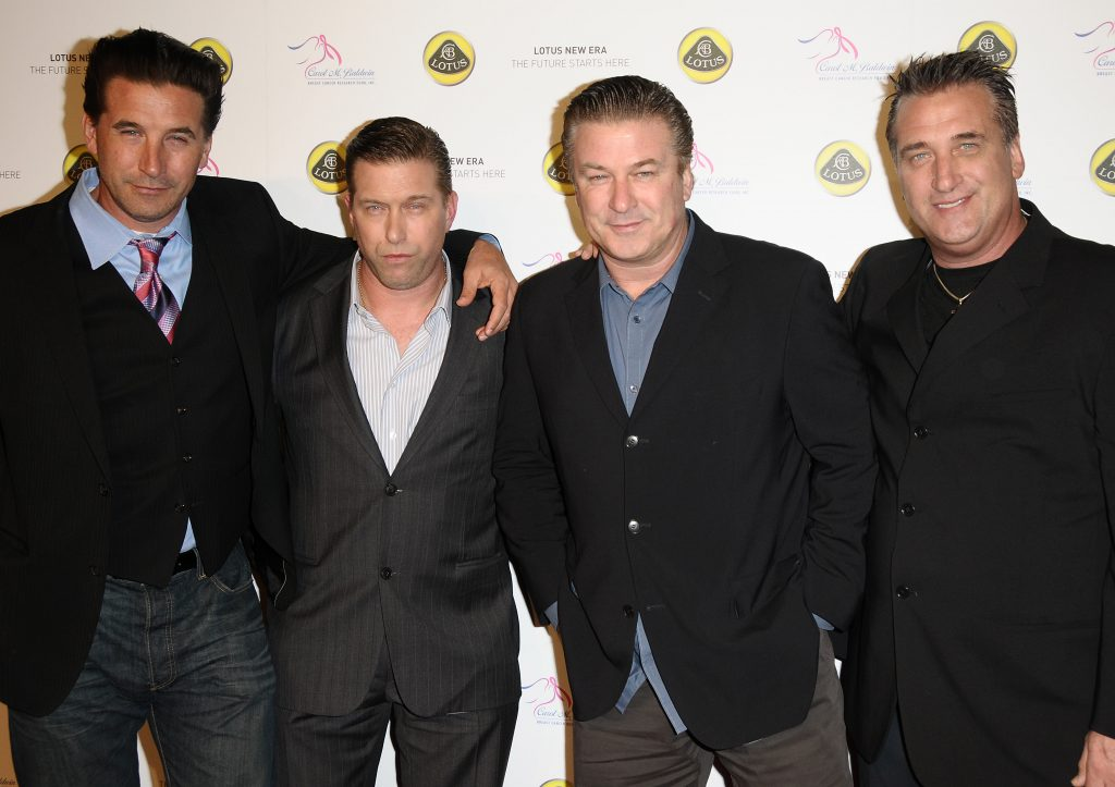 The Baldwin brothers pose together for a photo