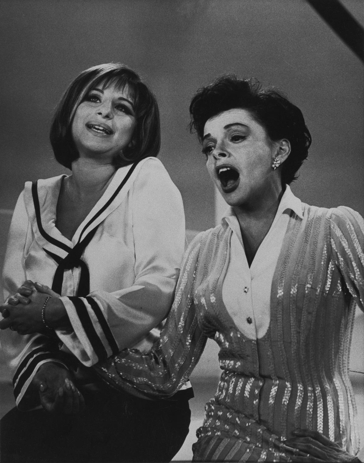 Barbra Streisand and Judy Garland