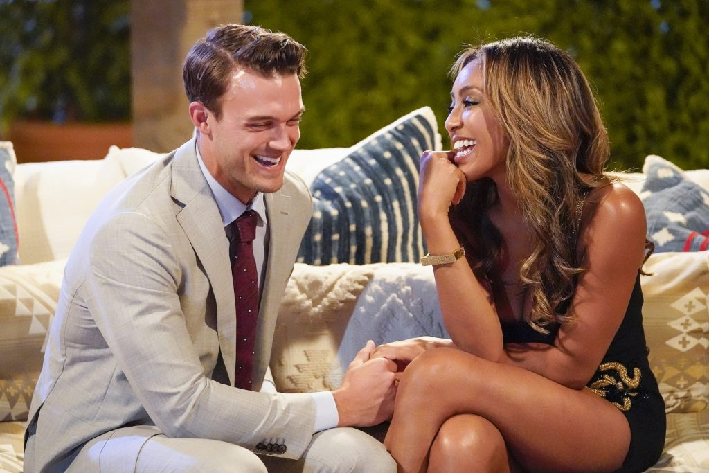 Ben Smith and Tayshia Adams on 'The Bachelorette'