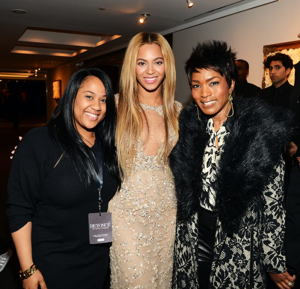 Beyoncé with Angela Beyince and Angela Bassett