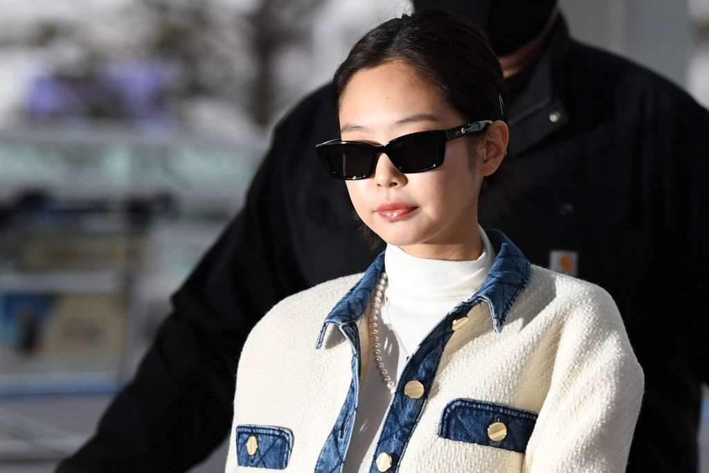 Jennie of BLACKPINK is seen upon departing at Incheon International Airport