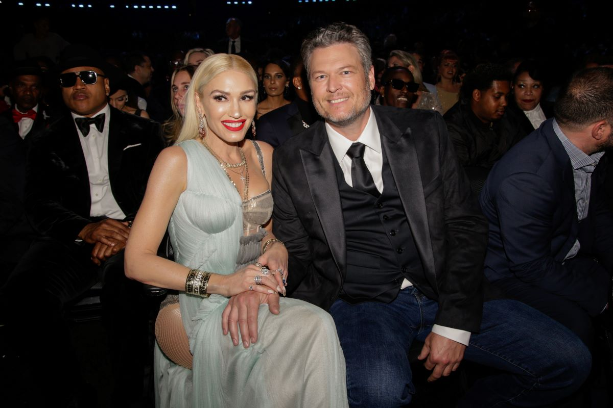 Gwen Stefani and Blake Shelton attend the 62nd Annual GRAMMY Awards at STAPLES Center on January 26, 2020 in Los Angeles, California.
