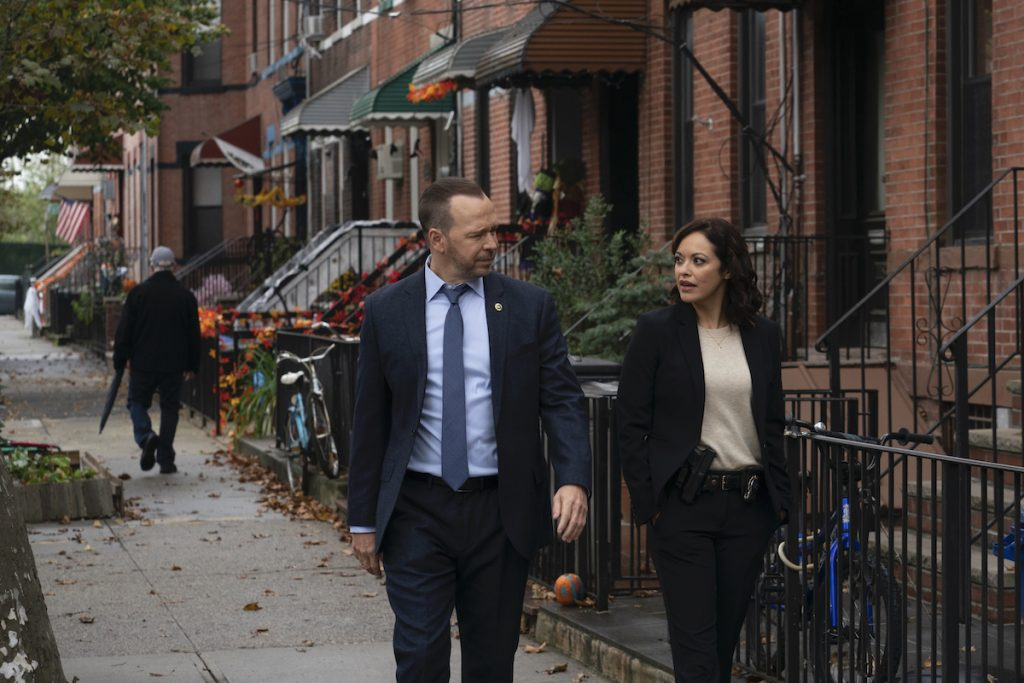 Donnie Wahlberg as Danny and Marisa Ramirez as Maria in 'Blue Bloods'