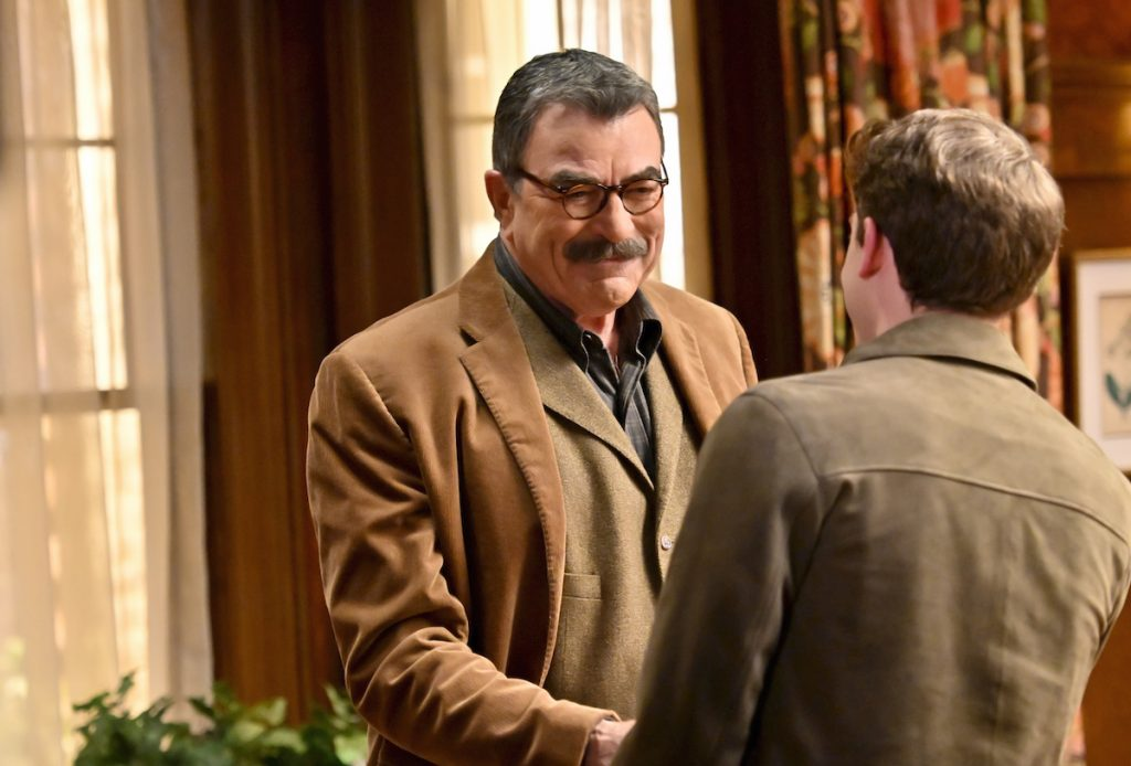 Tom Selleck as Frank Reagan and Will Hochman as Joe Hill on 'Bllue Bloods'