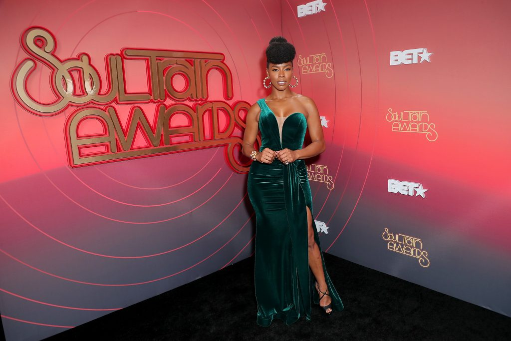 Brandee Evans at the Soul Train Awards |  Leon Bennett/STA 2020/Getty Images for BET