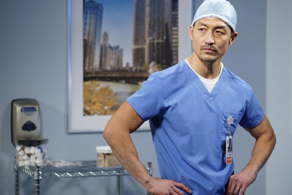 Brian Tee as Ethan Choi on Chicago Med |  Elizabeth Sisson/NBC/NBCU Photo Bank via Getty Images
